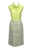 Ramuz Geneve Tweed Skirt and Silk Blouse