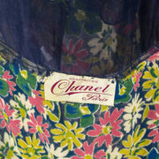 1930's Adaptation Chanel Paris Floral Dress Label