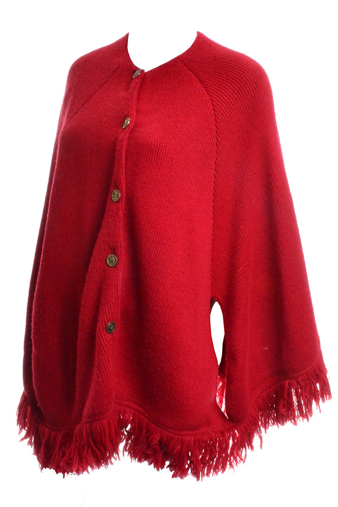 1970s Red Vintage Cape