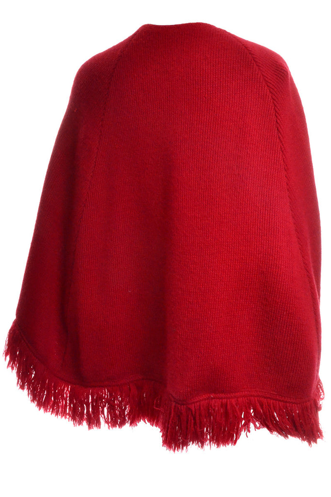 Vintage 70s red cape