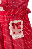 Rare Nathan Krauskopf vintage 1940s cherry red little girl's dress