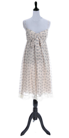 NEW with original tags PINK Robert Rodriguez polka dot dress with lace trim - Dressing Vintage
