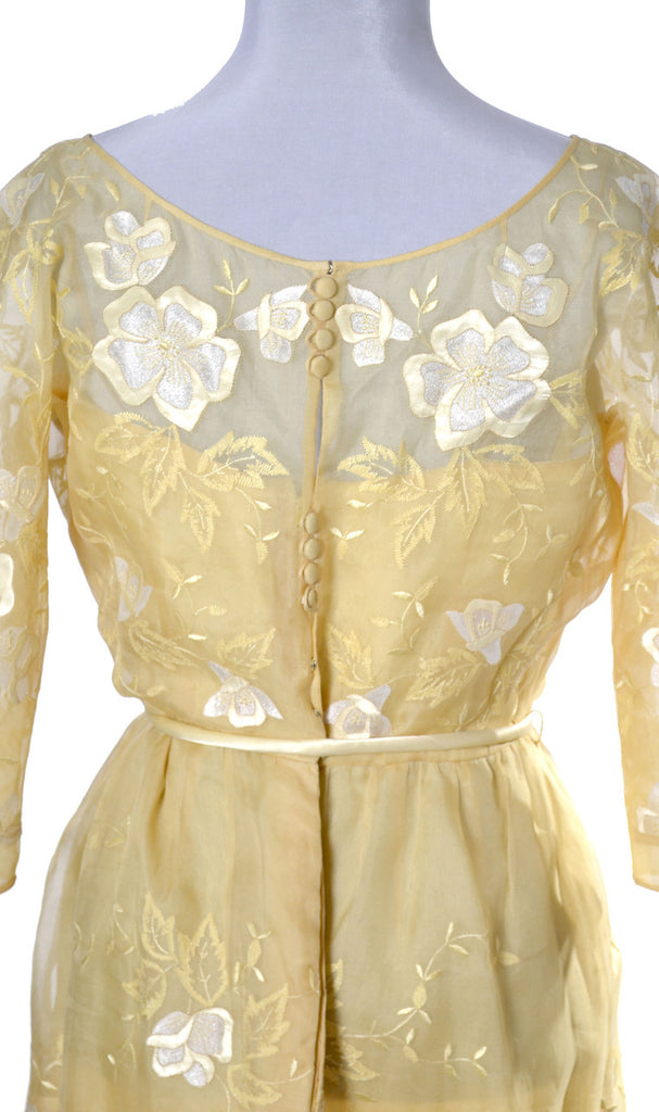 Samuel Winston Yellow vintage dress organza