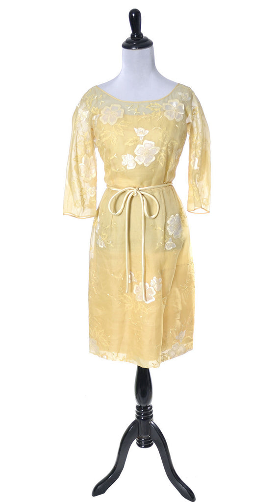 Samuel Winston vintage dress yellow