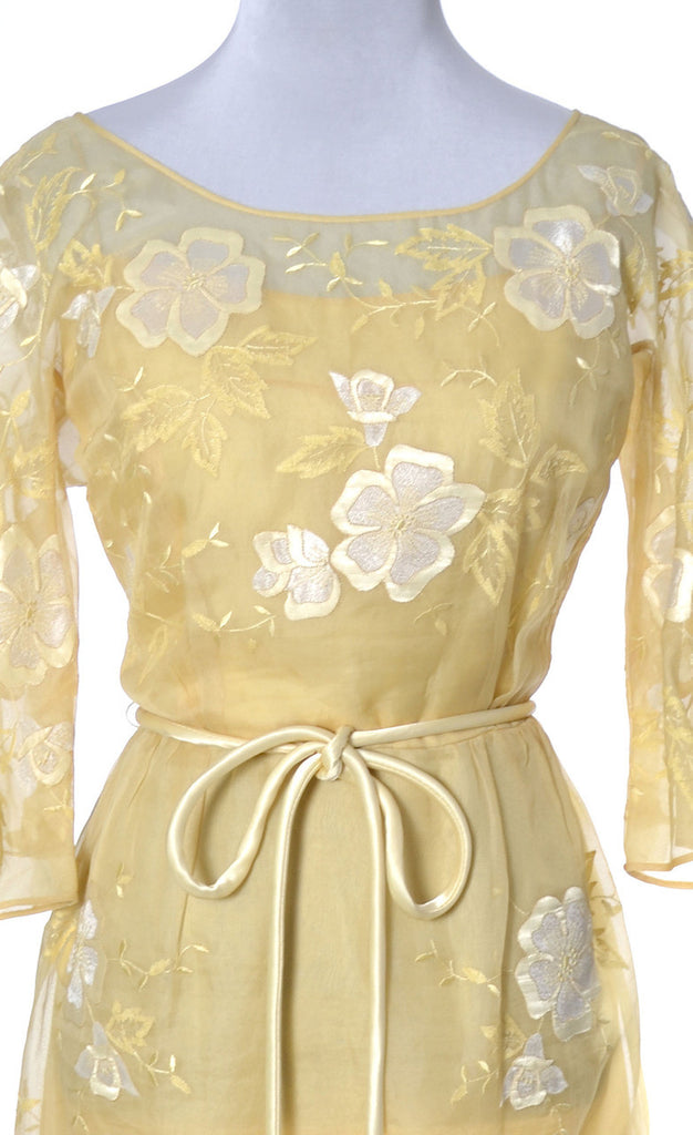 yellow vintage dress Samuel Winston
