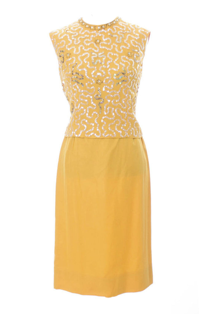 Sandra Sage vintage dress marigold sequins