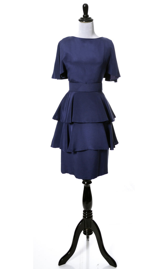 Beautiful Blue layered vintage dress from Scaasi Boutique