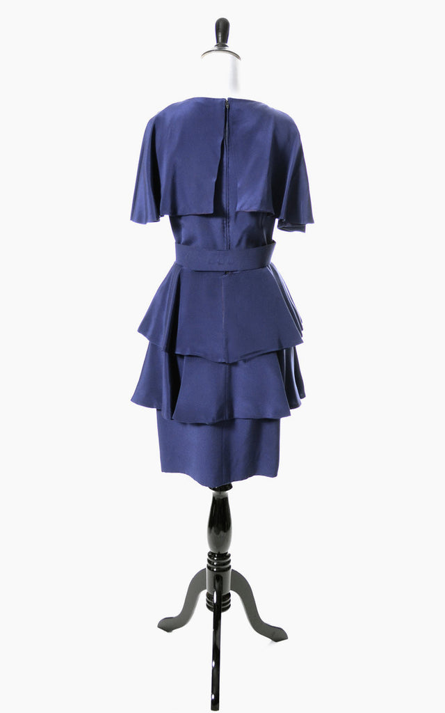 Vintage Scaasi designer dress in blue