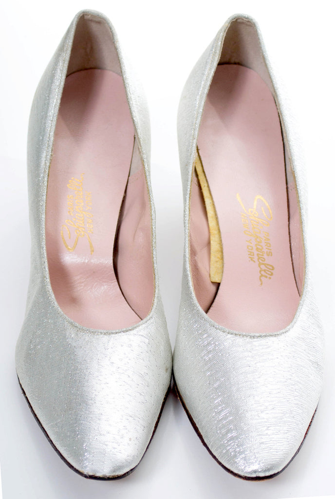 Silver Schiaparelli shoes