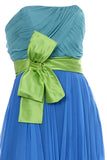1960s Vintage Dress Silk Chiffon Color Block Bow