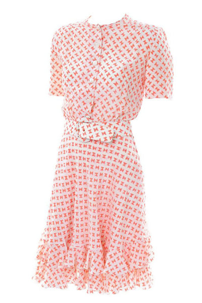 Couture Silk Bowtie Sun Dress with belt
