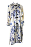 Chinese Vintage Robe Silk Birds & Butterflies