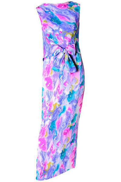 Vintage 1960's Tie Dye Watercolor Maxi Dress