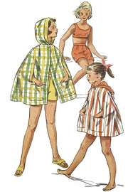 Simplicity 2100 Girls Vintage 1950s Sewing Pattern Crop Top Shorts & Cape