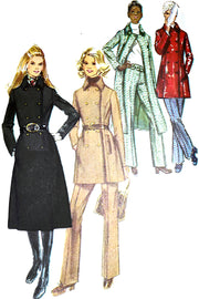 1971 Simplicity 9617 Vintage Coat and Trouser Pattern