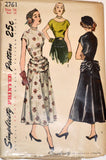 Uncut 1950s vintage dress pattern Simplicity 2761