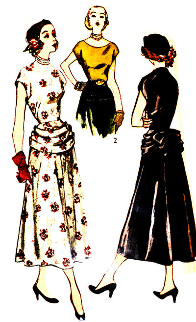 "1950s Simplicity 2761 Vintage Dress Pattern 34"" Bust - Dressing Vintage"