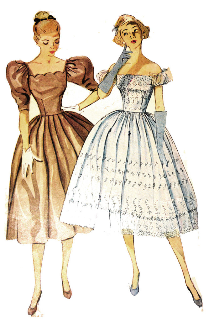 Simplicity 40 Party Dress Or Bridesmaid Dress Vintage Pattern New Vintage Dress Patterns 1950s