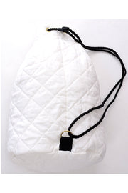 Sonia Rykiel Cruise Backpack or Drawstring Bag White