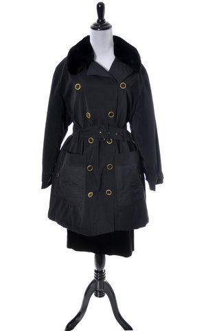 Designer Vintage Sonia Rykiel Paris Trench coat raincoat - Dressing Vintage