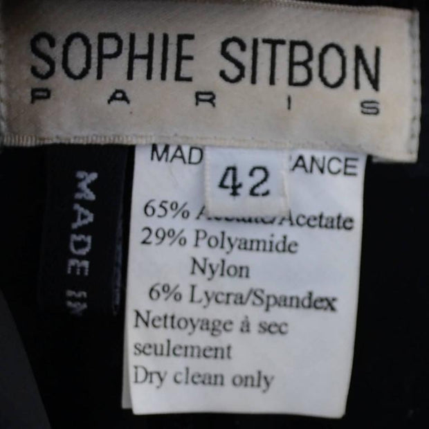 Sophie Sitbon Paris 1990's black vintage dress size 42