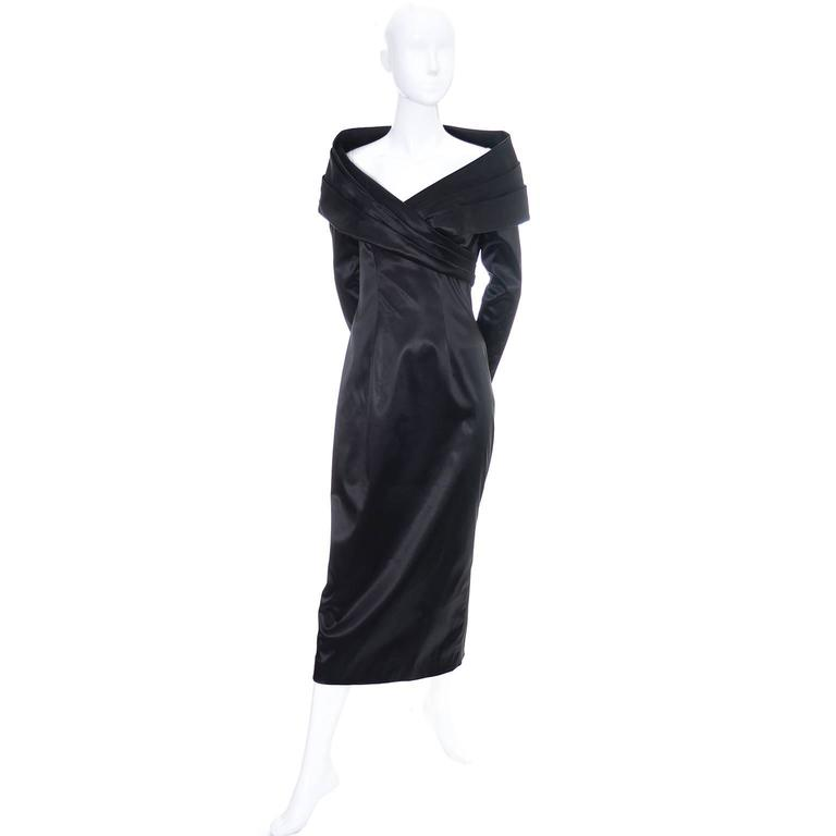 Shawl collar vintage evening gown by Sophie Sitbon from the 1990s