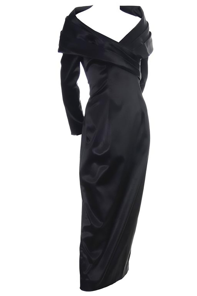 Sophie Sitbon black stretch sexy evening gown