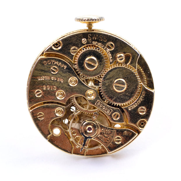 Gotham Watch Co Vintage Steampunk Gold Watch Movements Cufflinks