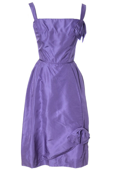 1960's Vintage Cocktail Dress New with Original Tags Purple Deadstock - Dressing Vintage