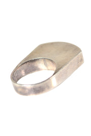 Tall Sterling Silver Pinkie Ring - Dressing Vintage