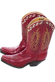 1940s Red Vintage Stewart Romero Cowboy Boots 7.5 RARE - Dressing Vintage