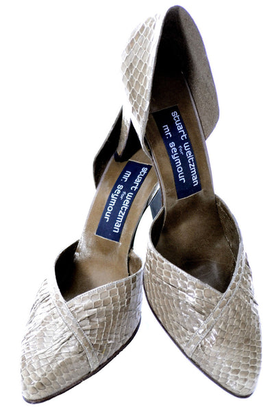 Stuart Weitzman vintage new snakeskin shoes in box 8.5B - Dressing Vintage
