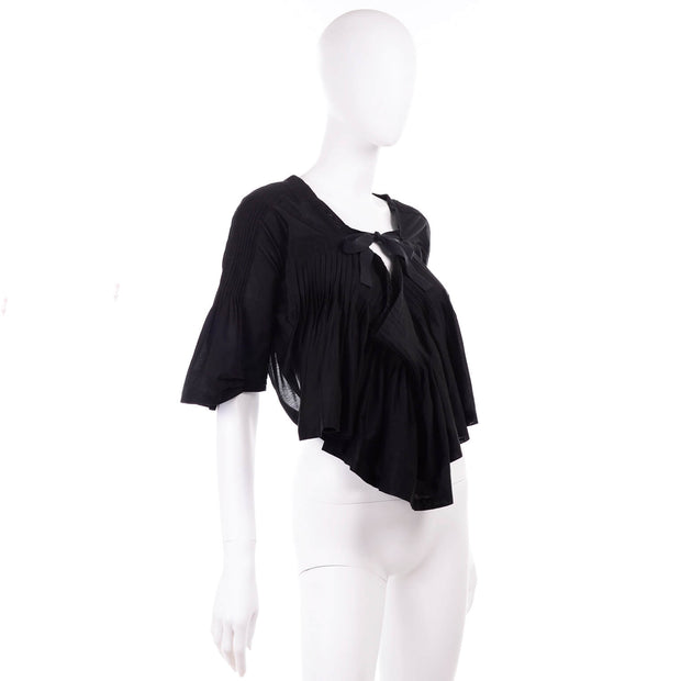 Comme des Garcons Tao Black Cotton Scarf Top with Open Back
