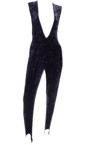 Tapemeasure New York Black Crushed Velvet Jumpsuit