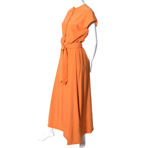 Teal Traina New York long orange vintage dress - Dressing Vintage