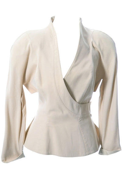 80s Vintage Thierry Mugler Designer Blazer with Beautiful Detail - Dressing Vintage