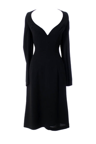 Thierry Mugler Little Black Dress with Exposed Shoulders