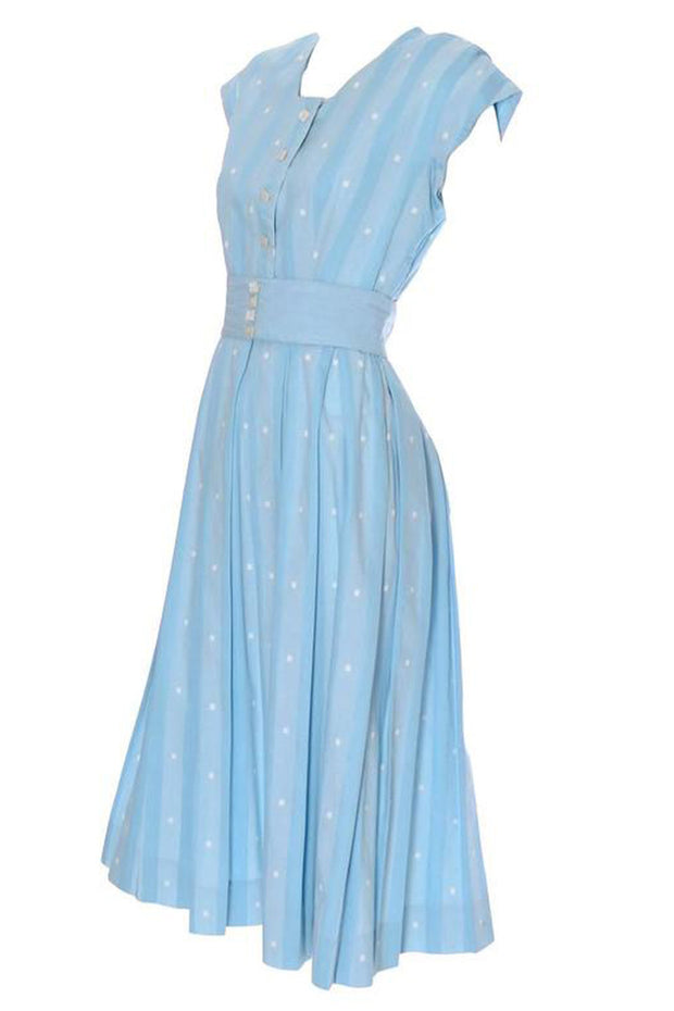 Tree of Live original 1950's blue vintage dress