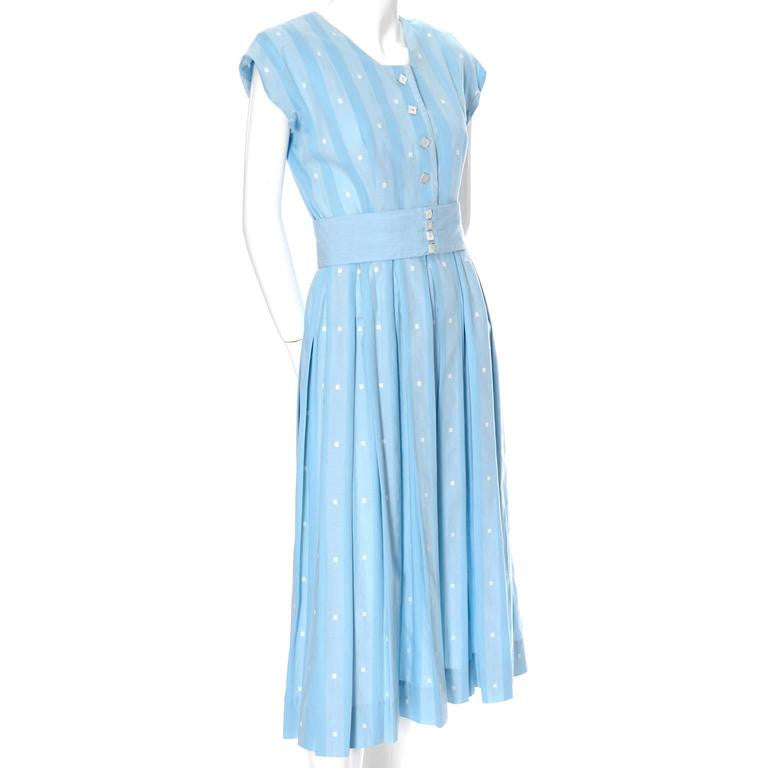 Blue vintage 1950's dress worn by Jessica Chastain in Tree of Life