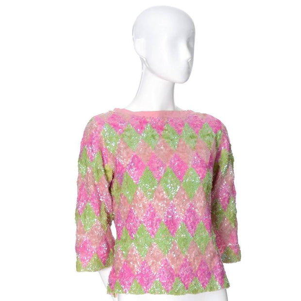 1960's diamond pattern sweater