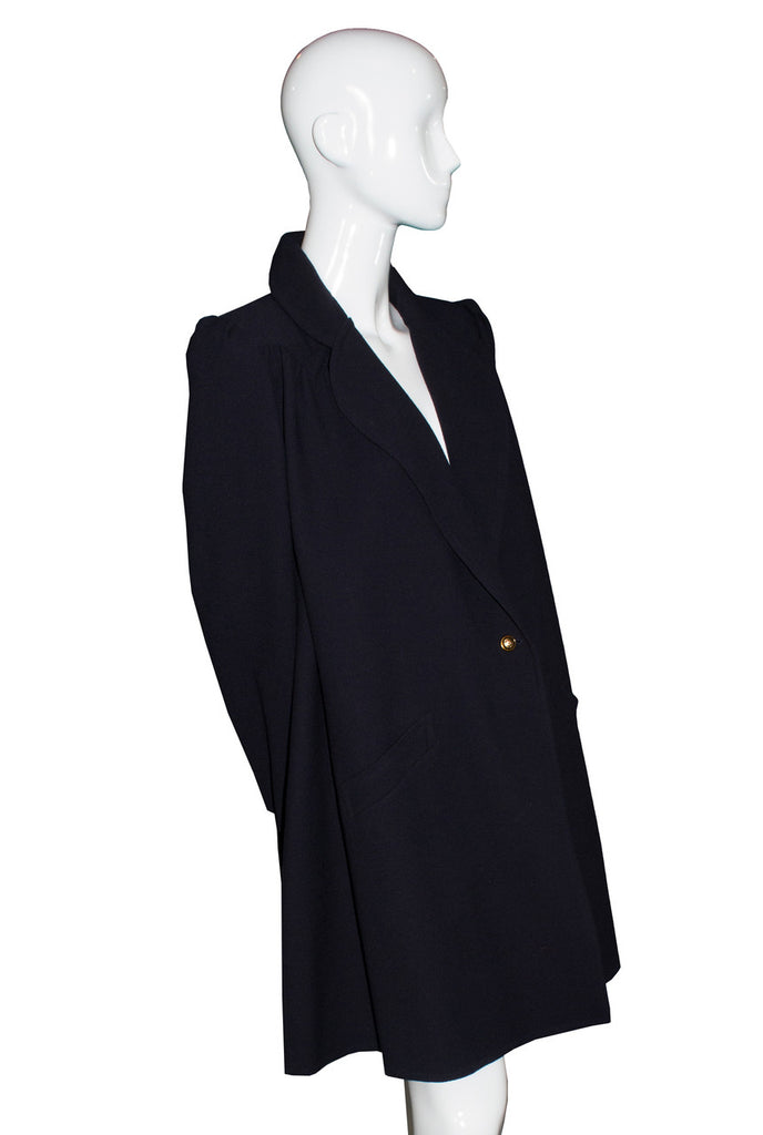 Vintage Valentino Mint condition midnight navy blue swing coat SOLD