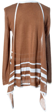 1970's Copper Brown Vintage Valentino Sweater w/ Attached Scarf | Dressing Vintage
