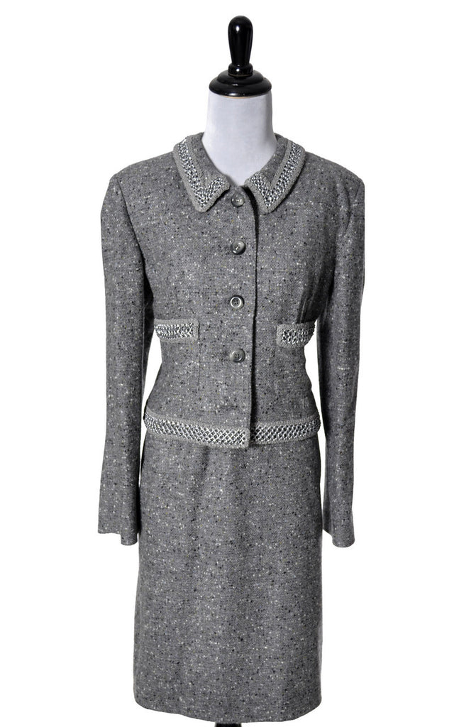 Vintage Valentino Chanel style skirt suit