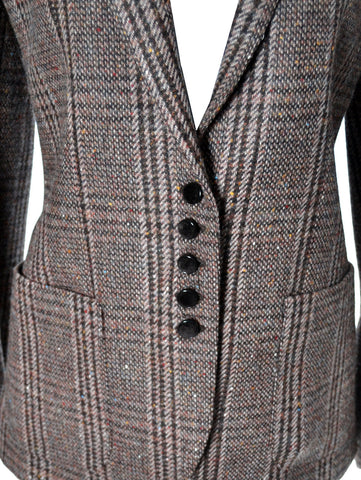 As New Vintage Valentino Plaid Tweed Wool Blazer - Dressing Vintage