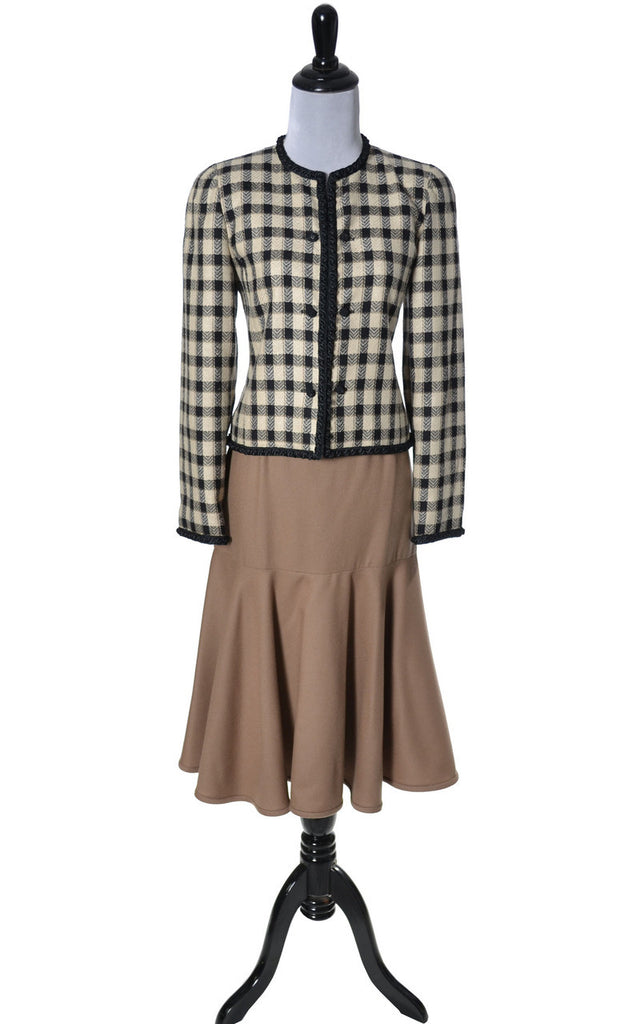 Vintage chanel  style Valentino jacket and camel skirt