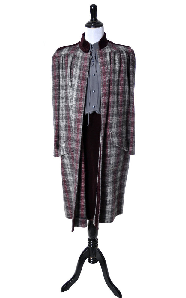 Valentino Vintage Coat with coordinating velvet skirt - Dressing Vintage