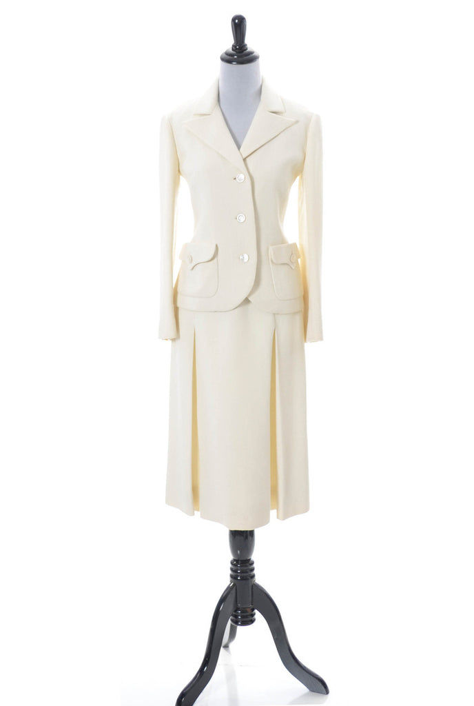 Vintage Valentino winter white 1970s suit