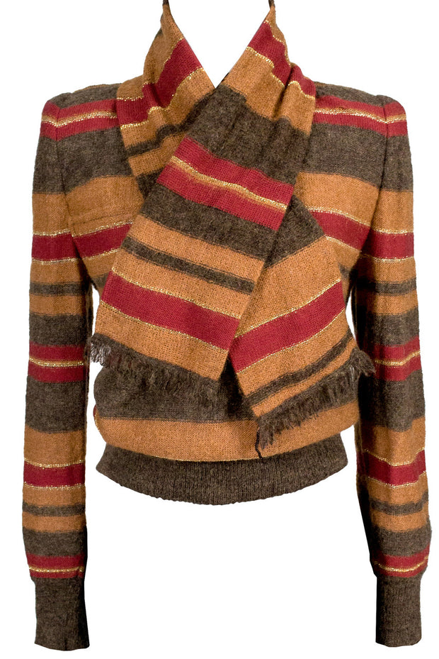 Vintage Valentino Designer Sweater and scarf - Dressing Vintage