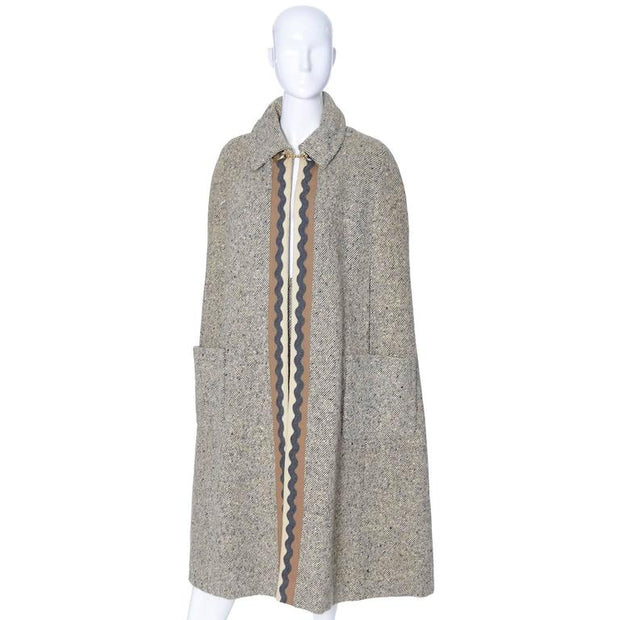 Vera Maxwell vintage tweed cape and matching skirt size 6/8