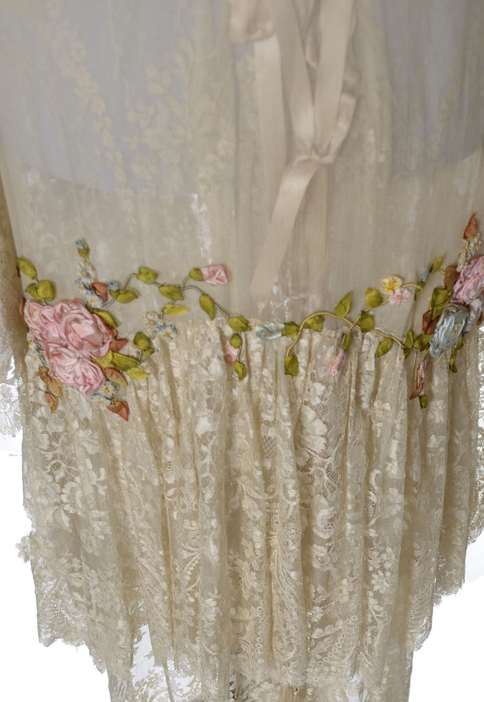 vera west vintage nightgown lace